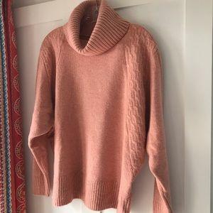 Topshop Sweaters - TOPSHOP Plush Turtleneck, Rose
